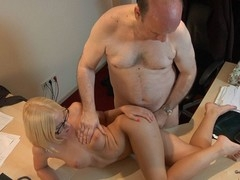 This juvenile golden-haired lady doctor knows well how to treat an old guy during the time that medical examination. That Babe applies him a modern therapy which consist in lengthy licking balls, intense 10-Pounder engulfing and fuck