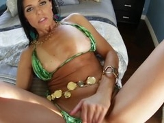 sexy dark brown mother i'd like to fuck strips off her bikini to engulf and fuck